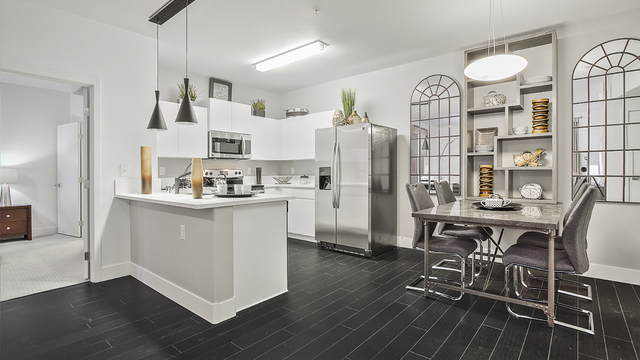 Evolve Apartments - Kitchen with Furnishings and Features